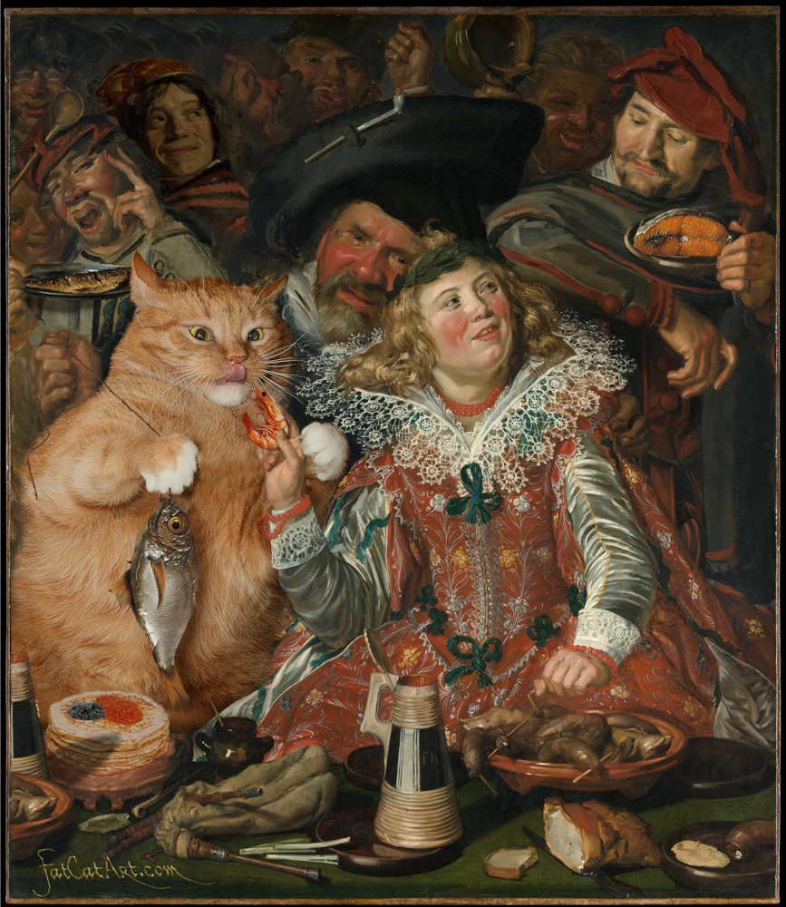 Frans Hals, Merry cat feeders at Shrovetide