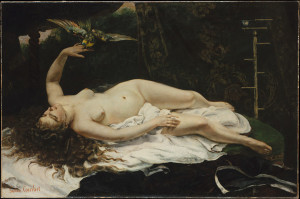 Gustave Courbet, Woman with a Parrot, from the Metropolitan Museum collection