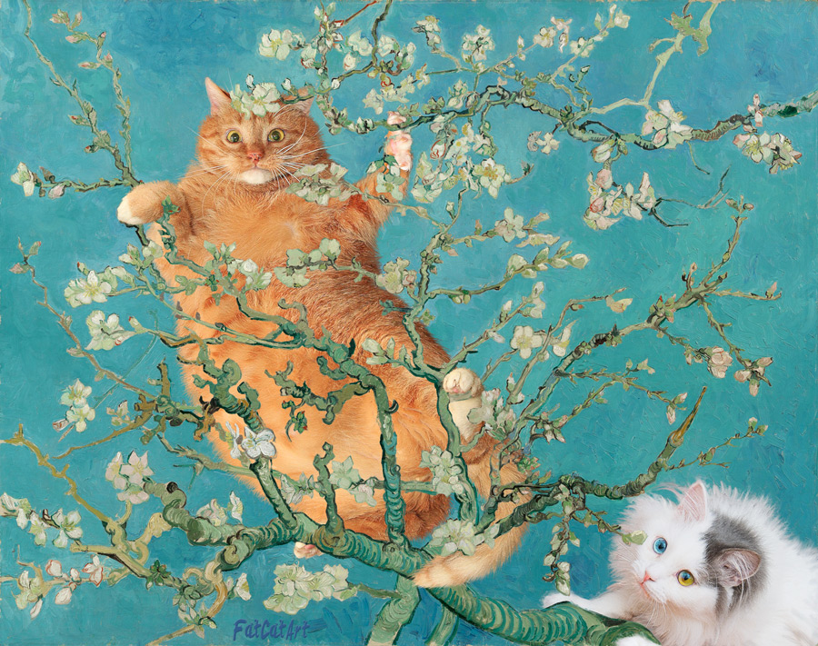 Vincent Van Gogh, Cats in almond blossoms