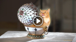 Golden Kitty found inside Faberge egg