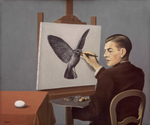 Rene Magritte, Clairvoyance, commonly known version