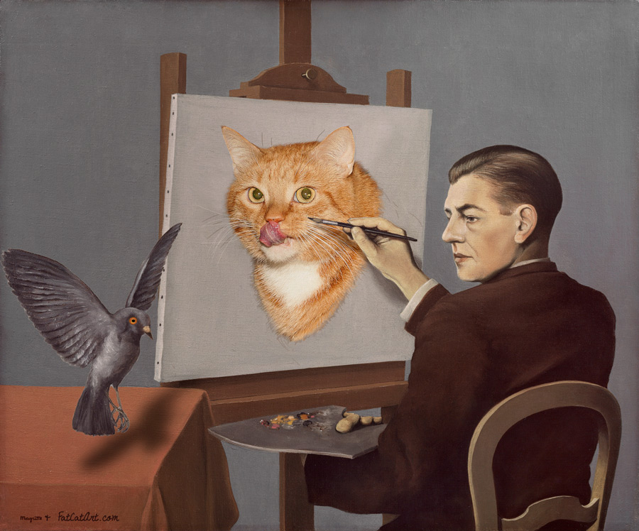 Rene Magritte, Clairvoyance, or Catvoyance