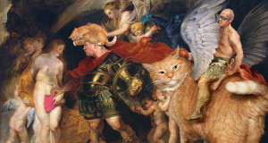 Peter Paul Rubens, Perseus and Andromeda in a period of Covfefe, or Perseus and Catfefe