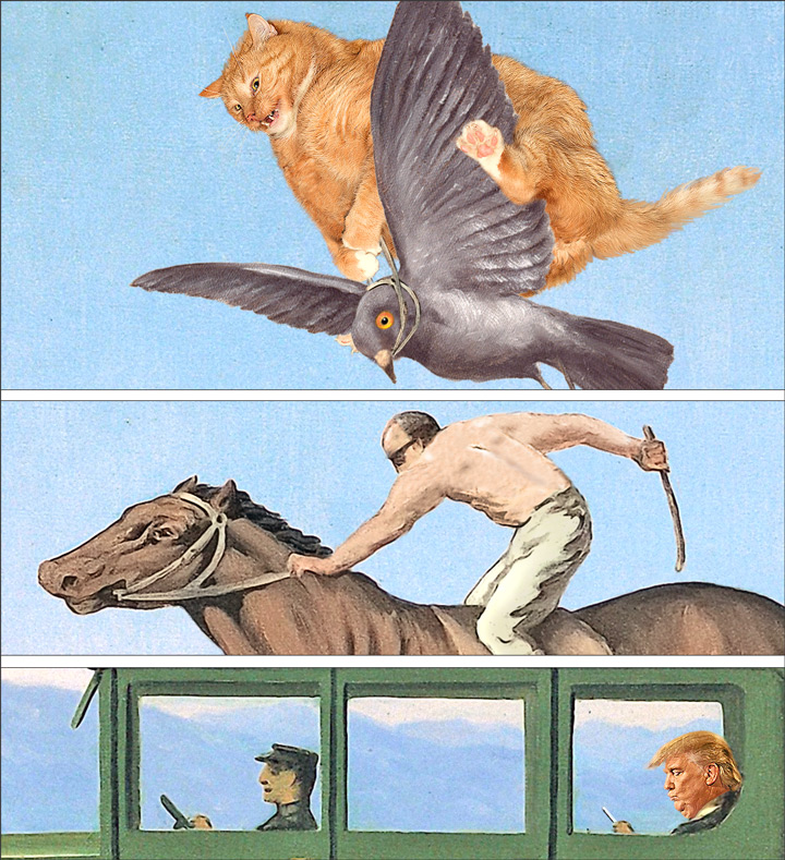 Renee Magritte, The Anger of Gods at the summit, details
