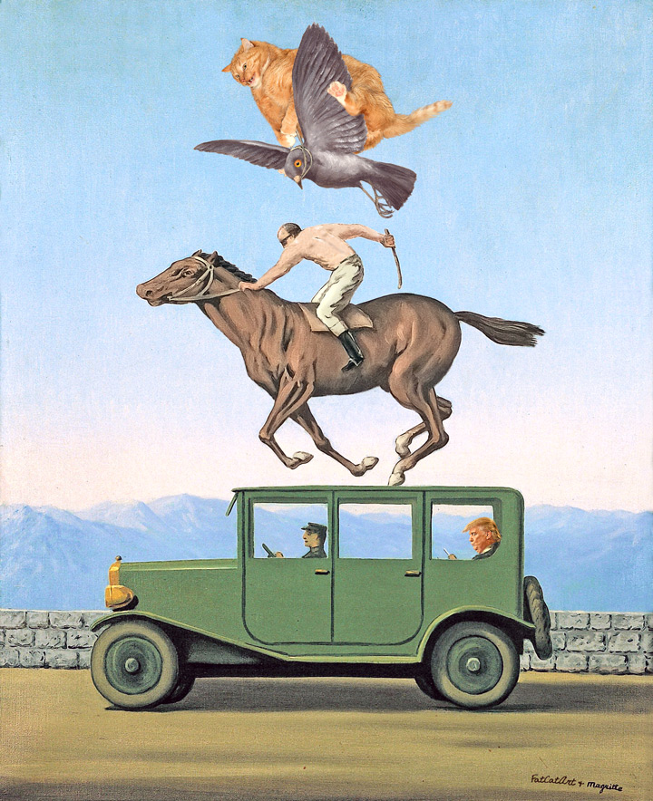Renee Magritte, The Anger of Gods at the summit