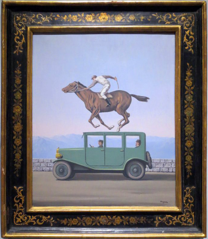 Rene Magritte, The Anger of Gods, commonly known version