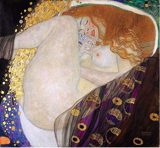 Gustav Klimt, Danae, the commonly known version