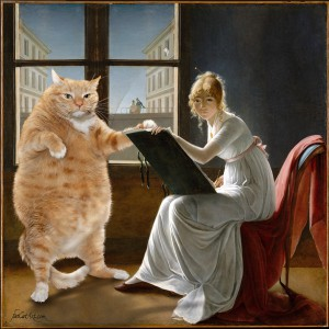 Marie-Denise Villers, Young woman drawing a cat