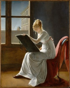 Marie-Denise Villers, Young woman drawing, from the Metropolitan Museum