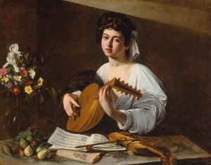 Caravaggio, The Lute Player, from the Hermitage