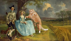 Thomas Gainsborough, Mr and Mrs Andrews, and Mr Cat