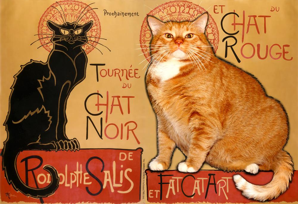 Théophile Steinlen, La tournée du Chat Noir  et du Chat Rouge de Rodolphe Salis et Fat Cat Art (1896)