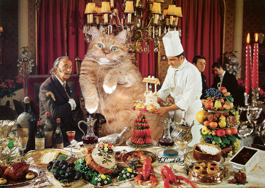 A photo from Salvador Dali's cookbook