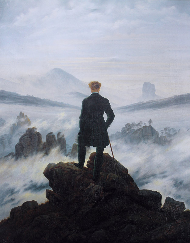 Caspar David Friedrich, Wanderer above the sea of fog, Kunsthalle Hamburg