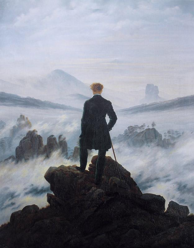 Каспар Давид Фридрих, Странник над морем тумана, Гамбургский кунстхалле