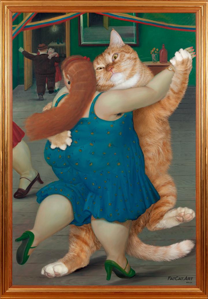 Fernando Botero, Dancing couple (Pareja bailando). True version