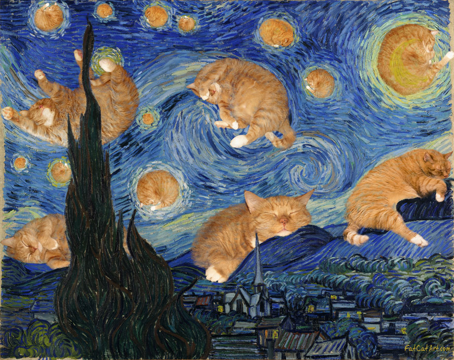 Vincent van Gogh, The Starry Night, true version, aka The Furry Night