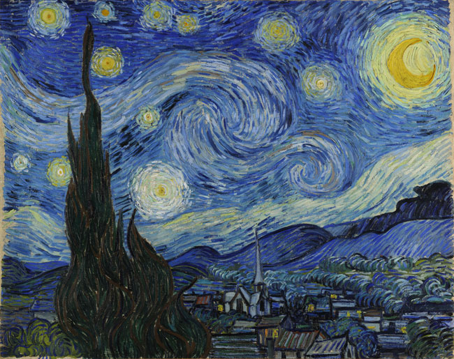 Vincent van Gogh, The Starry Night, MoMA collection