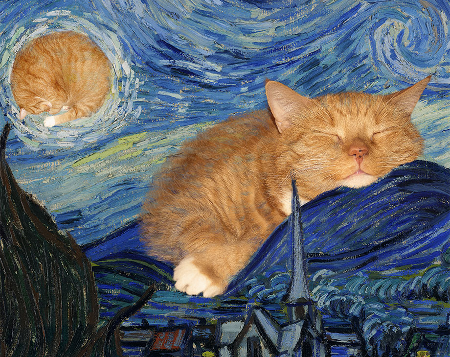 Vincent van Gogh, The Furry Night, detail