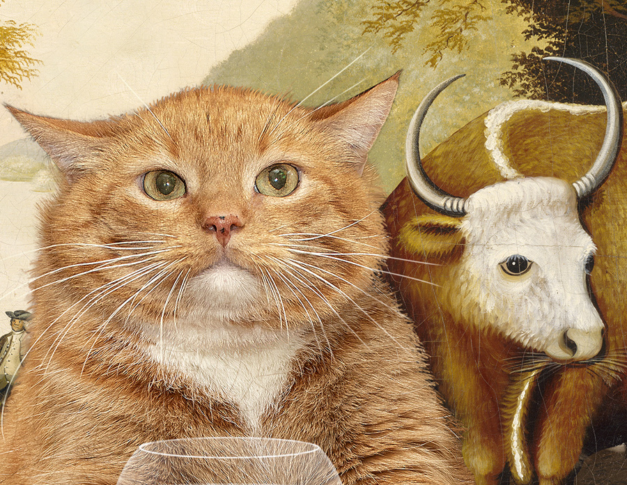 Edward Hicks, Peaceable Kingdom, the first version, detail