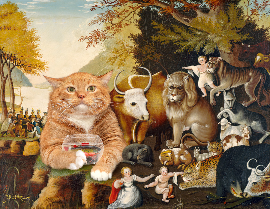 Edward Hicks, Peaceable Kingdom, the first version