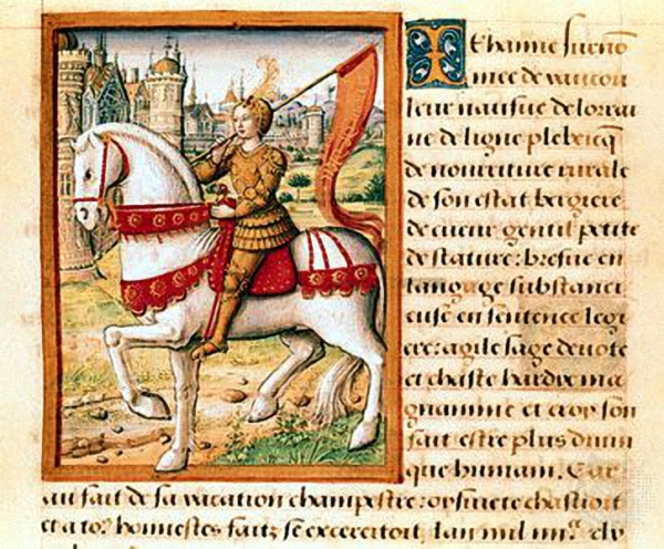 Jeanne d'Arc on horseback