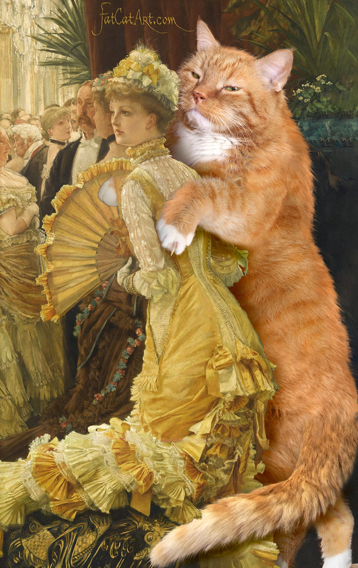 James Tissot, Evening with the Cat