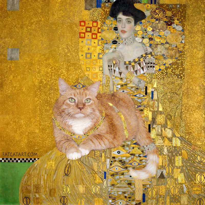 Gustav Klimt, Portrait of Adele Bloch-Bauer with the Cat