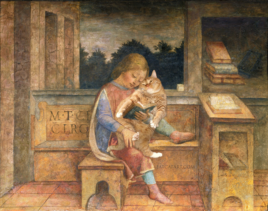 Vincenzo Foppa, Young Cicero reading to his cat
