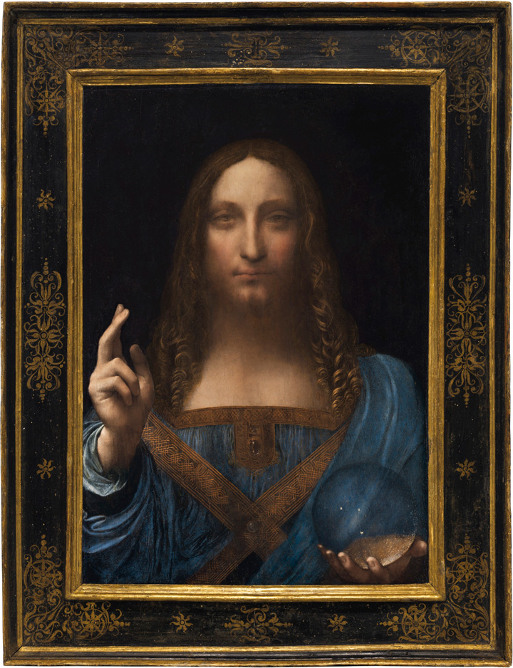 Leonardo da Vinci, Salvator Mundi, 1500, commonly known version