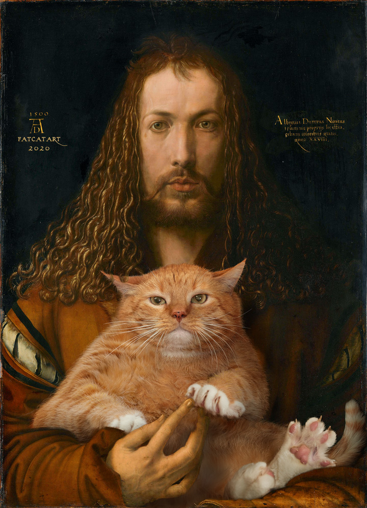 Albrecht Dürer, Self-portrait with the furball, 1500