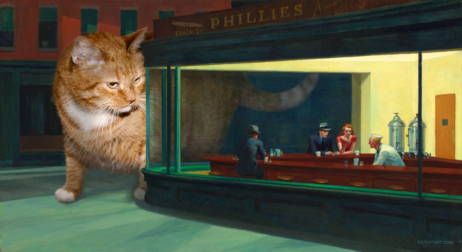 Edward Hopper, Nighthawks and Nightcat