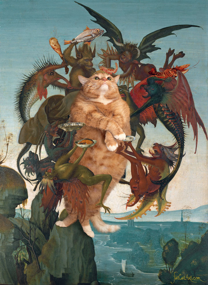 Michelangelo Buonarroti, The Temptation of the Fat Cat, 1487
