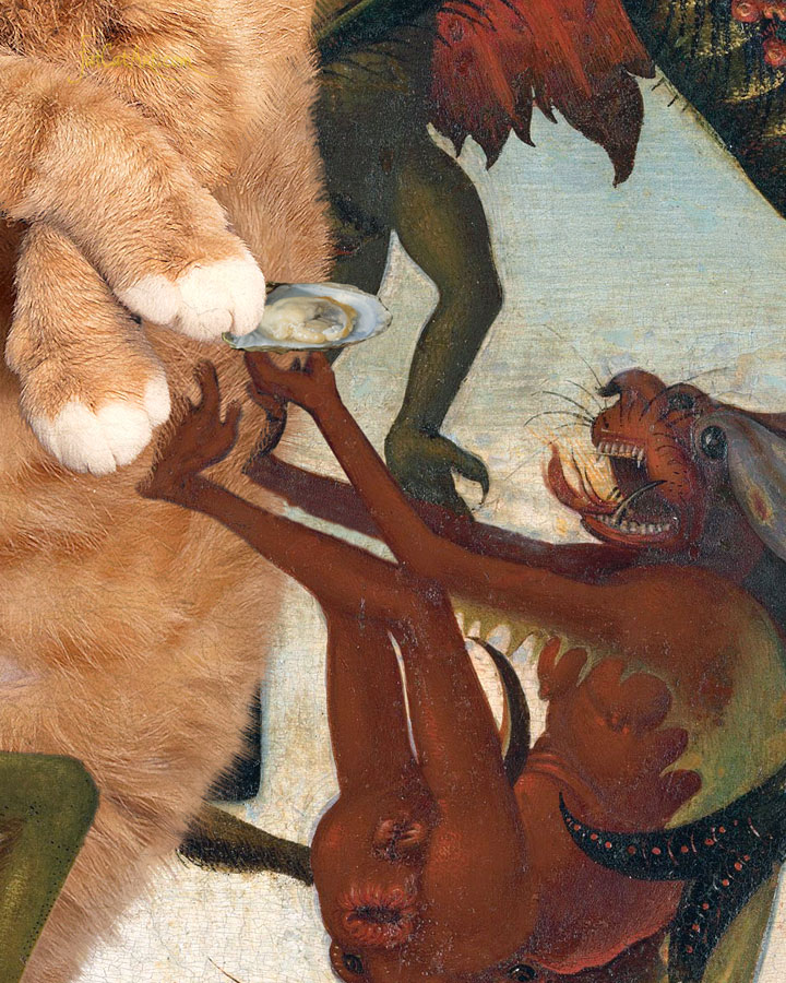 Michelangelo Buonarroti, The Temptation of the Fat Cat, detail