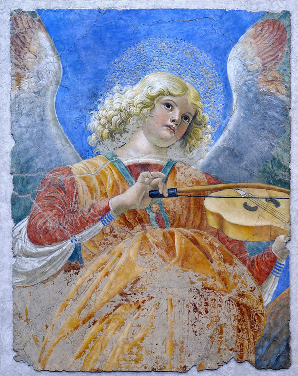 Melozzo da Forli, Angel playing the violin
