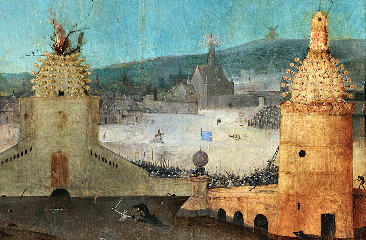 Hieronymus Bosch, Fly away with the Cat, detail