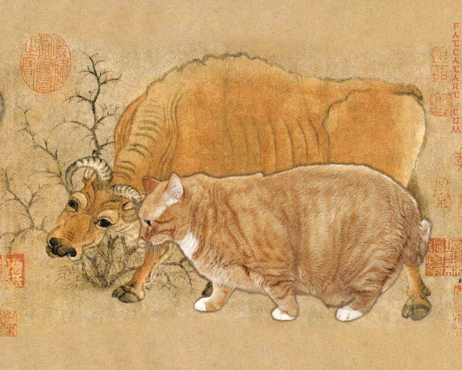 Han Huang, Five Oxen and Five Cats