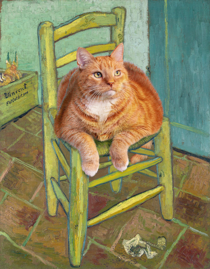 Vincent van Gogh, The Cat on Van Gogh's Chair