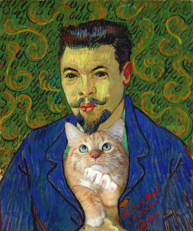 Vincent van Gogh, Portrait of Doctor Rey with the Cat