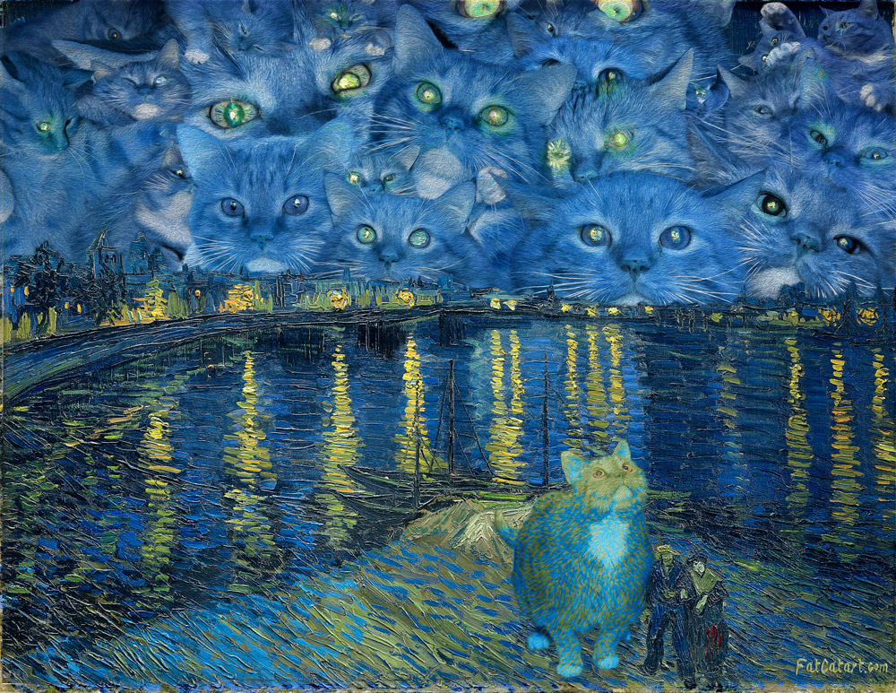Vincent van Gogh, Furry Starry Night over the Rhone
