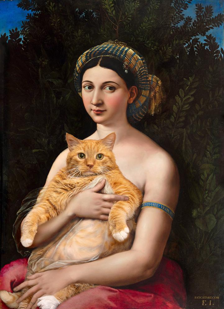 Raphael, La Fornarina and the Cat